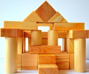 Various wooden blocks
