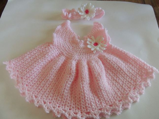 Knitting Patterns Baby Frocks : 19. Casalana-the wool house ~ Baby Summer crochet dress and hairband The Cr...