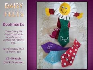 2. Daisy Felts Fathers Day Dad inspired bookmarks ~ https://www.facebook.com/daisyfeltsshop/photos/a.543468229017750.1073741825.542329862464920/761732513857986/?type=1&theater