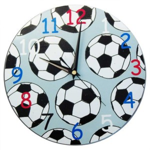 1. With-hugs-and-kisses-fathers-day-football clock Football/Soccer inspired clock  ~ http://folksy.com/items/2698550-Football-Soccer-Clock
